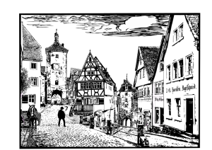 Old German cityscape
