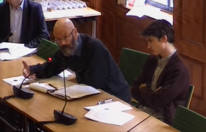 Mark Burton and Ben Irvine at MCC FInance Scrutiny Committee
