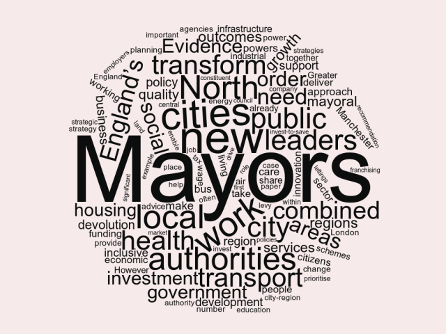 IPPR-North policy wordcloud