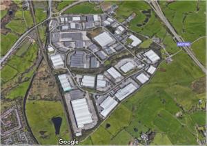aerial view Stakehill area, Middleton
