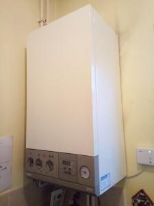 A gas boiler
