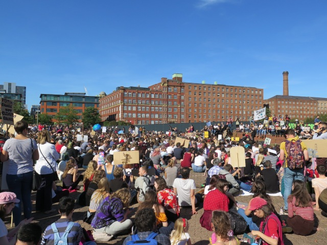 Climate strikers in Manchester